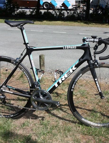 Leopard Trek provided team captain Andy Schleck with a new custom painted Trek Madone 6.9 SSL as he seeks his first Tour de France victory