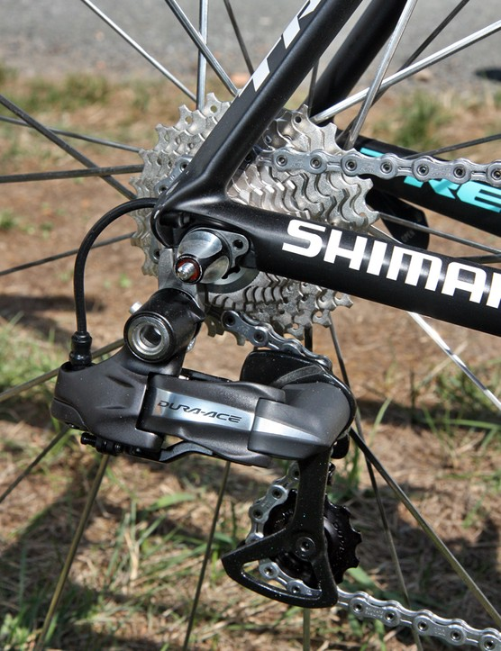 Leopard Trek team bikes are equipped with Shimano Dura-Ace Di2 groups