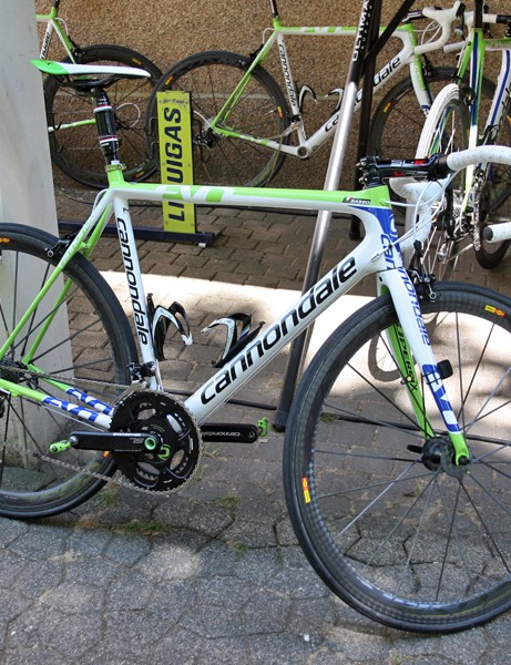 Liquigas-Cannondale have outfitted their entire team with the company's latest SuperSix Evo