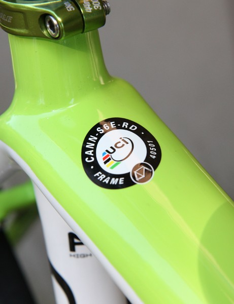 These decals are definitely widespread in the peloton in this year's Tour de France, as seen here on Ivan Basso's Liquigas Cannondale SuperSix Evo