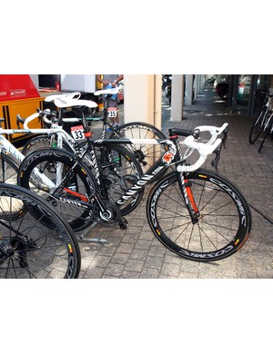 Omega Pharma-Lotto sprinter Andre Greipel gets this custom painted Canyon Ultimate CF SLX for this year's Tour de France