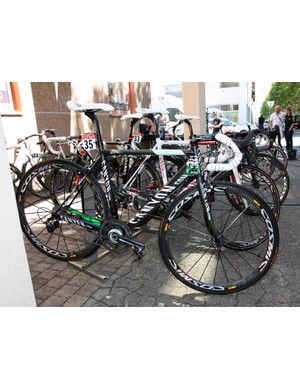 Omega Pharma-Lotto rider Jurgen Roelandts gets this custom painted Canyon Ultimate CF SLX for this year's Tour de France