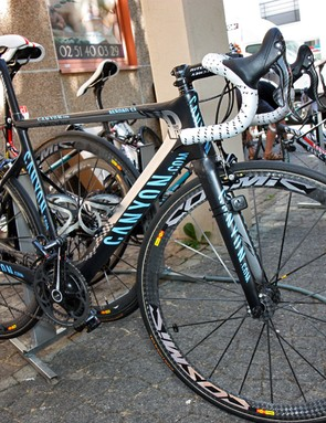 Philippe Gilbert (Omega Pharma-Lotto) has not one but two custom painted Canyon Aeroad CF bikes to use in this year's Tour de France, both with checkerboard motifs reflecting his 'Fast Phil' nickname