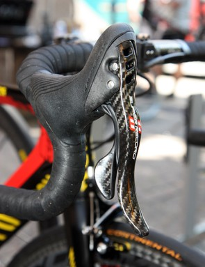 Campagnolo have provided Philippe Gilbert (Omega Pharma-Lotto) with their top-end mechanical group