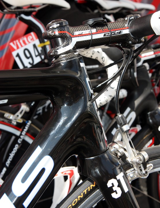 The molds on Katusha's specially tweaked Focus frames are identical to consumer versions so there's little distinguishing the differences on the surface