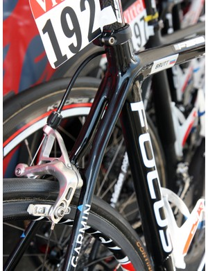 Focus use fully split seatstays on Katusha's team-issue Izalco Team frames