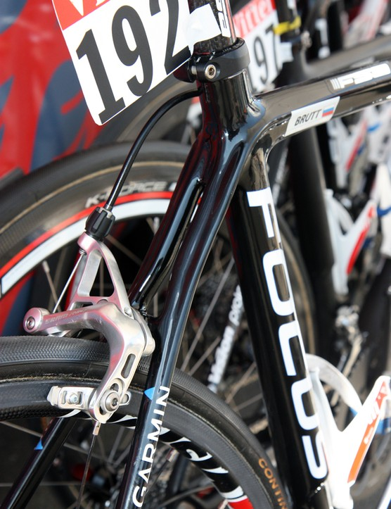Focus use fully split seatstays on Katusha's team-issue Izalco Team frames