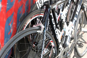 The four special Focus Izalco frames in Katusha's arsenal have each been personalized in terms of stiffness and ride comfort based on specific rider requests