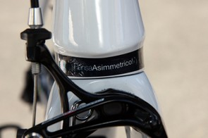 Just in case you couldn't tell by observation, Pinarello want to make it very well known that their Dogma2 frames aren't symmetrical