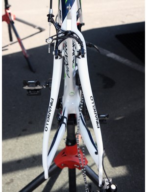 Seatstays on Pinarello's new Dogma2 are notably asymmetric