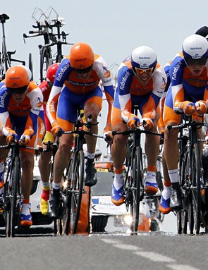 The Rabobank team in action