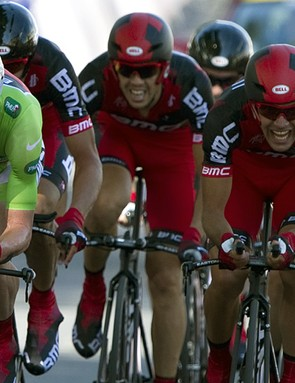 Cadel Evans' BMC team rode a great race to finish second