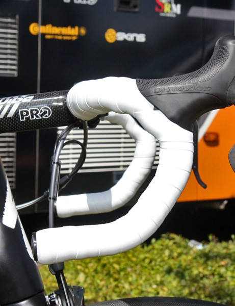 Tejay Van Garderen (HTC-Highroad) is using the anatomic-bend version of PRO's Vibe carbon bar