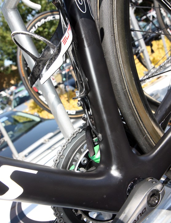 The seat tube on the new Specialized Tarmac SL4 is squared off at the bottom