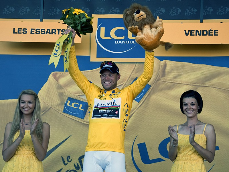 Thor Hushovd in yellow