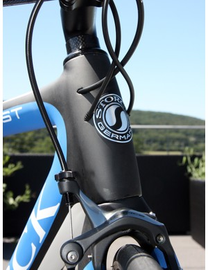 Cables are fed right into the bulbous tapered head tube on the redesigned Storck Absolutist