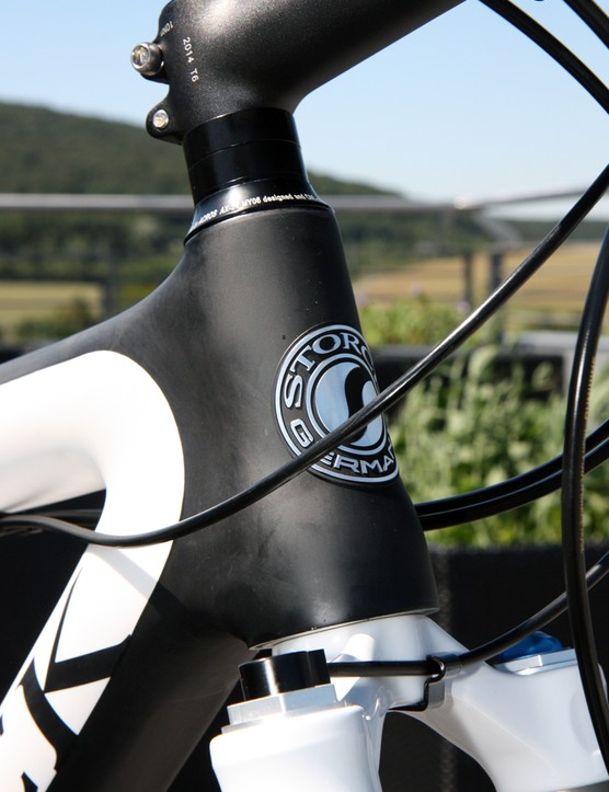 The new Storck Rebel Six gets a tapered head tube for 2012