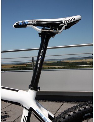 Storck say their Ultra Comfort carbon fiber seatpost has been designed for extra fore-aft flex to lend a smoother ride
