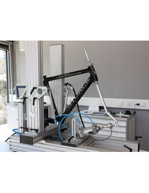 Storck test their frames both in-house and on-site at their Asian factory