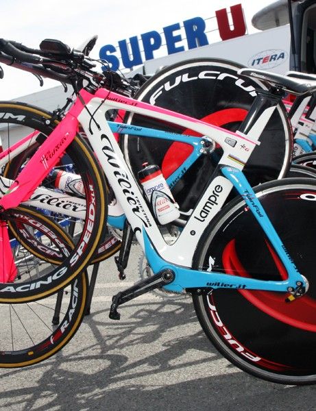 Lampre used Wilier's new TwinFoil aero bike in the team time trial