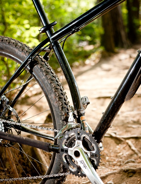 'Almost conventional'  frame gets a dose of tough, black  powdercoat