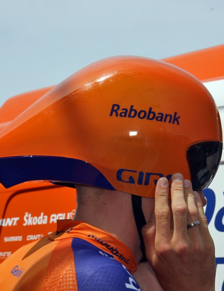 Rabobank used Giro's new Selector helmets during the team time trial