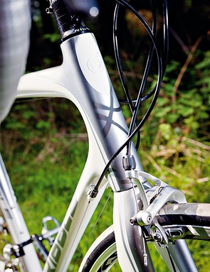 The head-tube is tall but not excessively so; it still handles