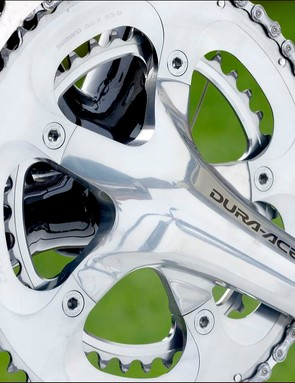 The Dura-Ace chainset looked huge when it was introduced...