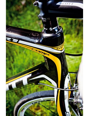 A more standard head-tube gives the CR1 racing potential
