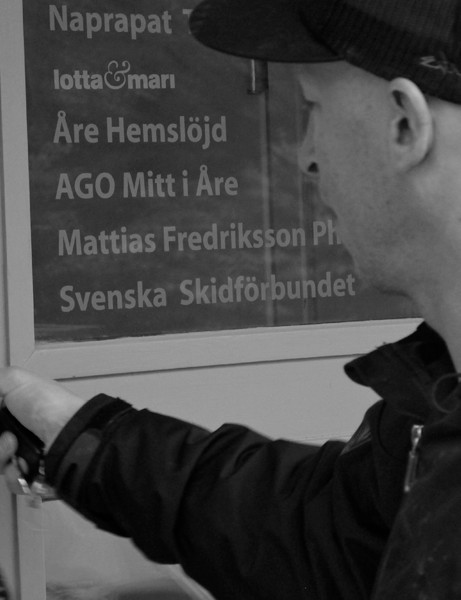 Mattias Fredriksson is big time. His name is on the door