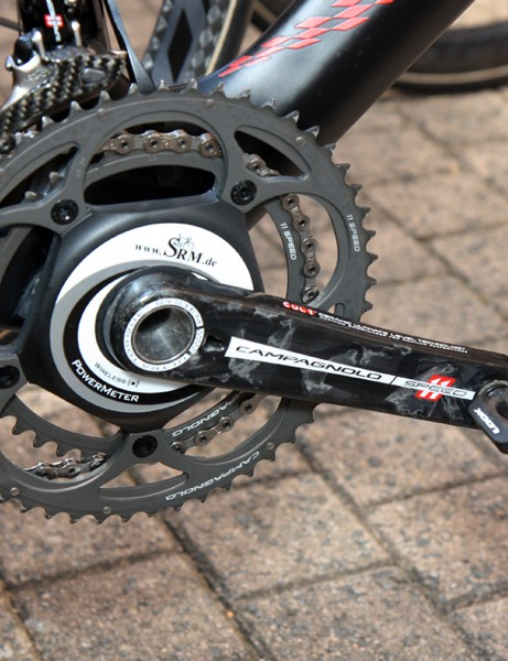 SRM debuted a new Campagnolo-compatible model on the bike of Philippe Gilbert (Omega Pharma-Lotto)