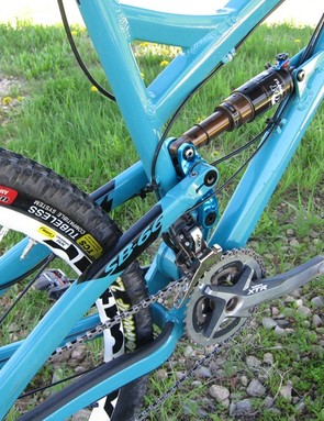 Yeti say the frame will accommodate a 2.4in tire with clearance for mud