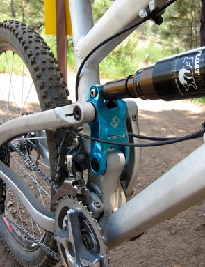 Yeti's production link sports more machining and a lighter weight than the version shown here