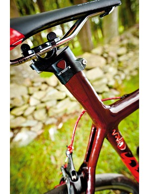 The seat mast is easily converted to a conventional 27.2mm post if you prefer