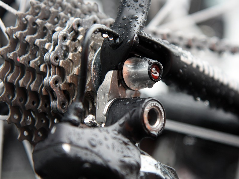 Leopard Trek have custom stainless steel derailleur hangers on their Trek Madones. RadioShack, on the other hand, look to be using standard aluminum ones