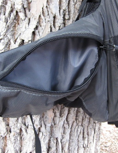 The waist belt pockets are easy to access with the pack on, perfect for a camera, multi tool, or food