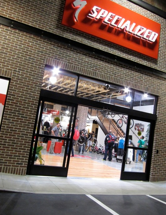 Specialized built a full-scale model concept store within their Morgan Hill headquarters