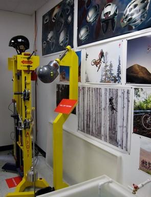 Two of the helmet lab's test fixtures