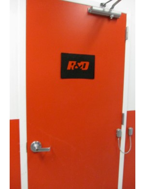 Behind the red door; Specialized's carbon room