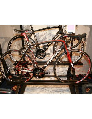 Specialized's carbon/red/white S-Works Tarmac SL4 will be available as a frameset in the UK from August, for £2,500
