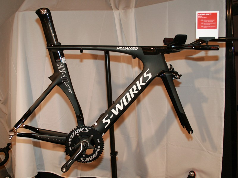 The updated Shiv time trial bike is UCI and triathlon legal for 2012
