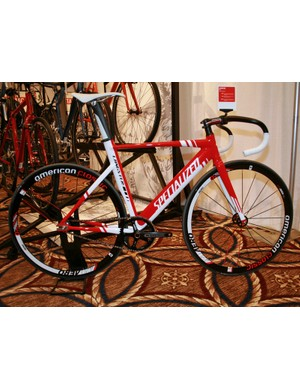 The Langster track bike has had an overhaul for 2012, with the new Pro version sporting an aero teardrop down tube that echoes the design of the Shiv and Transition