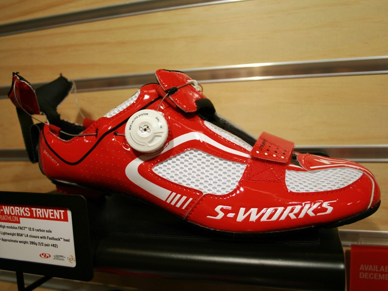 The 280g carbon-soled Trivent triathlon shoe has been designed for swift transitions to and from the bike