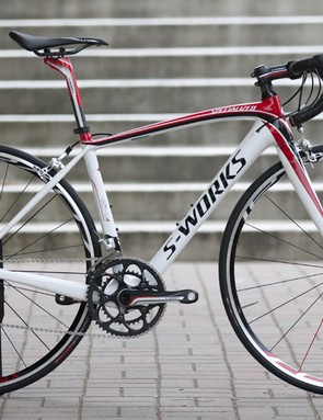 The top-end S-Works version of the new Amira women's race bike will only be available in the US