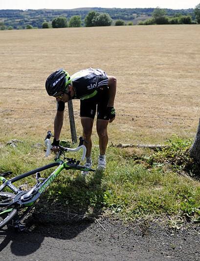 Juan Antonio Flecha after his stage 9 crash