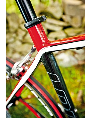 The seat-tube and post are slim diameter pipes too