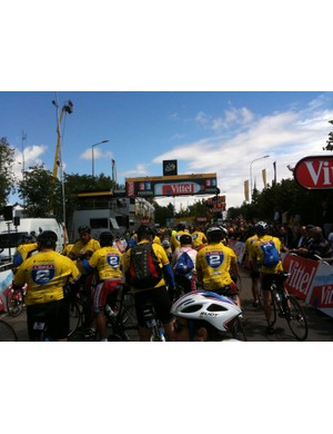 Ride 2 Recovery gets to the finish of stage 6 of the Tour de France