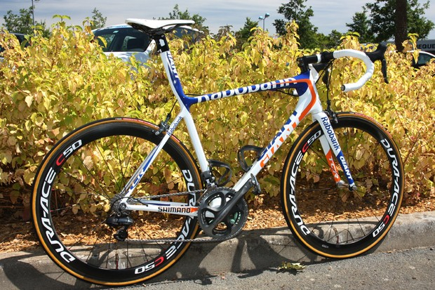 Rabobank's new Giant TCR Advanced SL is lighter and brighter for the 2012 season