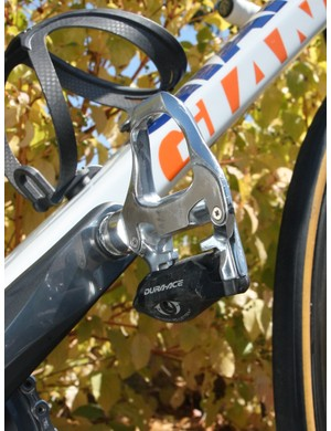 Lars Boom (Rabobank) is using the aluminum version of Shimano's Dura-Ace SPD-SL pedal