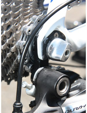 Giant say the new inboard rear derailleur hanger mounting position yields better stiffness for improved shifting